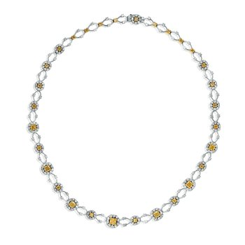 Radiant Floating Diamond Necklace