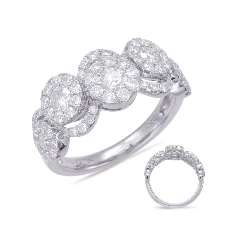 Briana White Gold Diamond Fashion Ring