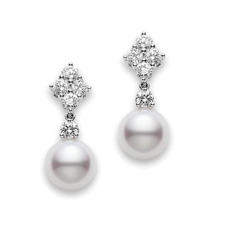 Classic Elegance Akoya Cultured Pearl Drop Earrings