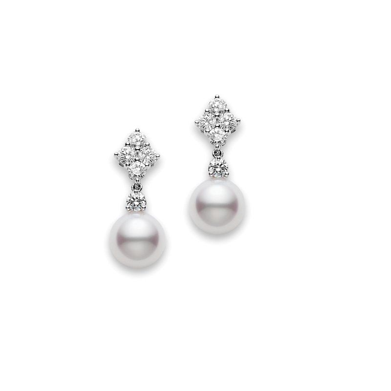 56e4d12fc Mikimoto Classic Elegance Akoya Cultured Pearl Drop Earrings. Stock #  PEA1048DW