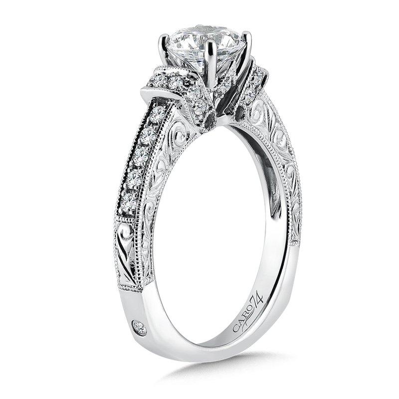 Scott Kay Platinum Engraved Five Diamond 0 30ctw Wedding: Segner's Jewelers: Caro74 Inspired Vintage Collection