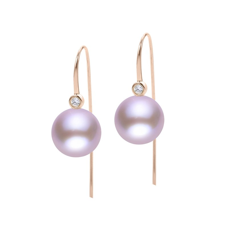 Imperial Pearl 14K Gold Rose Freshwater Pearl Earring