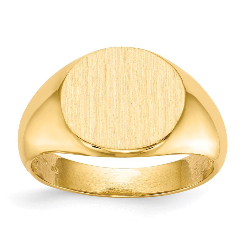 Quality Gold 14k 12.5x13.5mm Open Back Mens Signet Ring