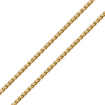 3mm Plated Gold Round Wheat Chain