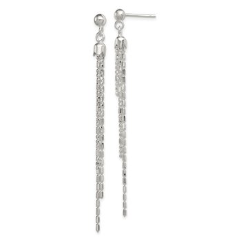 Sterling Silver Fancy Multi-strand Post Dangle Earrings