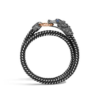 Legends Naga Wrap Bracelet In Blackened Silver and Bronze