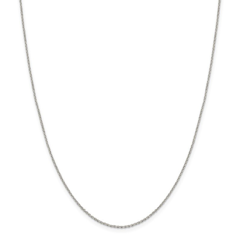 Quality Gold Sterling Silver 1.25mm Diamond-cut Forzantina Cable Chain