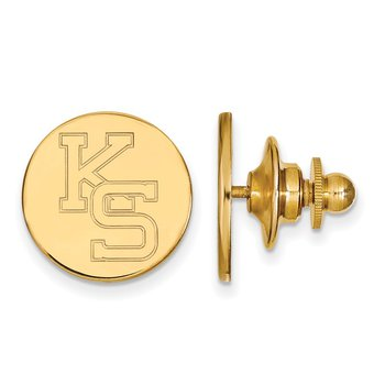 Gold-Plated Sterling Silver Kansas State University NCAA Lapel Pin