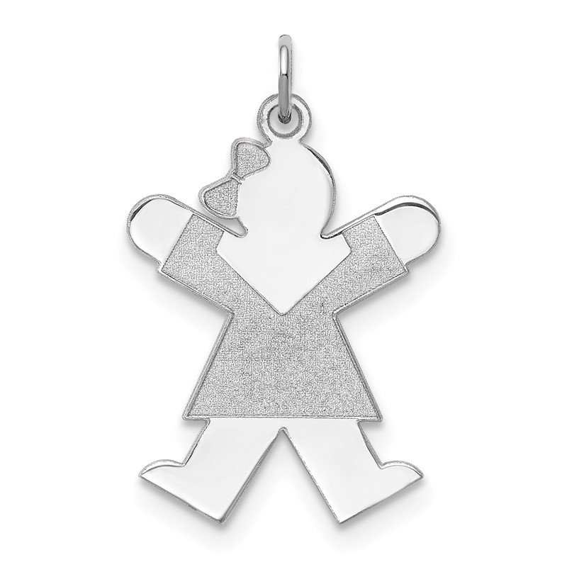 Quality Gold Sterling Silver Rhodium-plated Joy Kid Charm