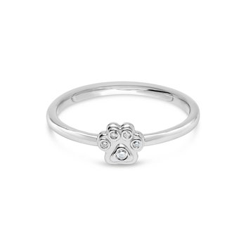 Classic Paw Diamond Ring