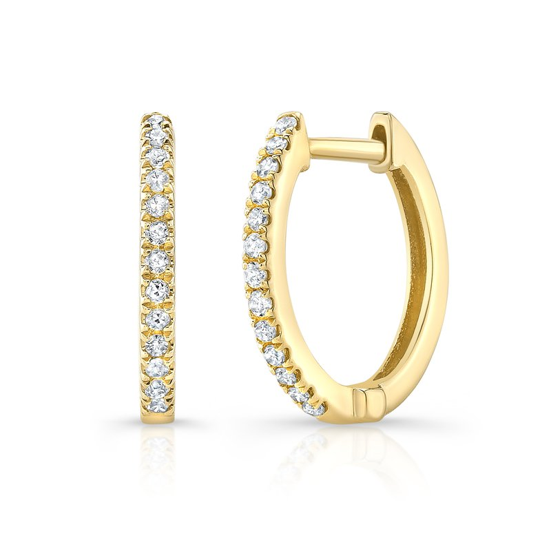 Robert Palma Designs Yellow Gold Huggie Hoops