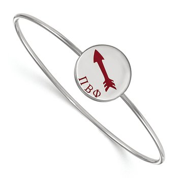 Sterling Silver Pi Beta Phi Greek Life Bracelet