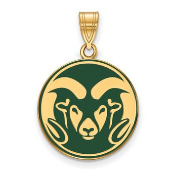 Gold-Plated Sterling Silver Colorado State University NCAA Pendant