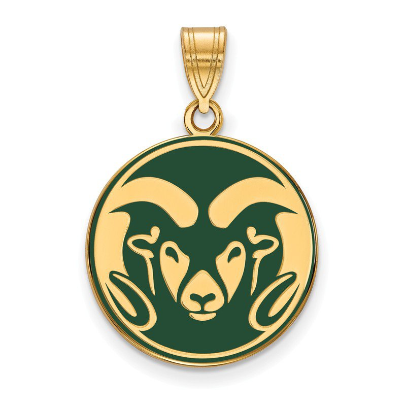 NCAA Gold-Plated Sterling Silver Colorado State University NCAA Pendant