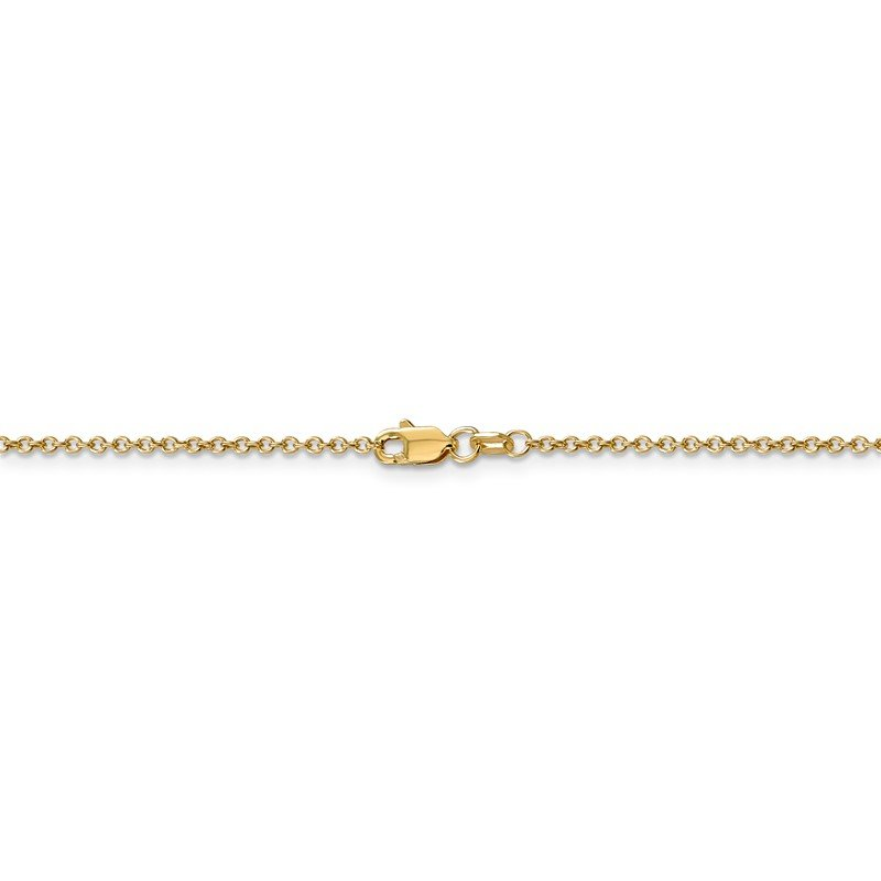 Quality Gold 14k 1.4mm Round Open Wide Link Cable Chain