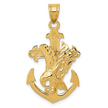14k Mariners Cross w/Eagle Pendant