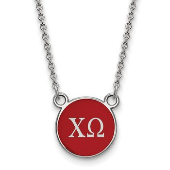 Sterling Silver Chi Omega Greek Life Necklace