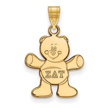 Gold-Plated Sterling Silver Sigma Delta Tau Greek Life Pendant