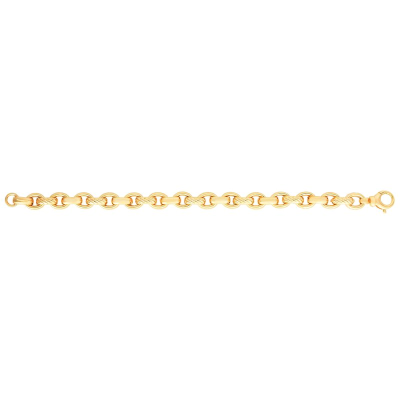 Royal Chain 14K Gold Oval Rolo Link Bracelet