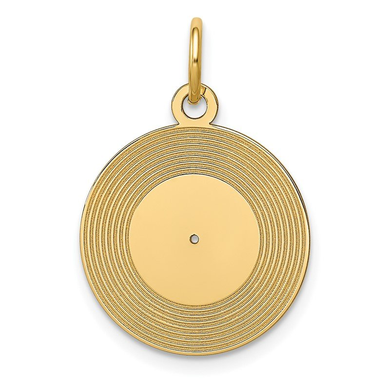 Quality Gold 14k Record Album Charm