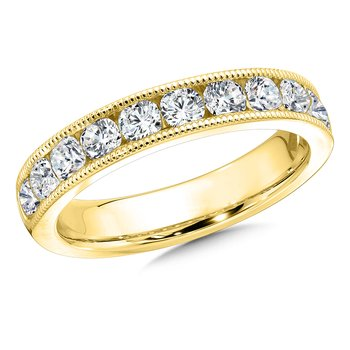 Diamond Annivarsary Band in 14K Yellow Gold