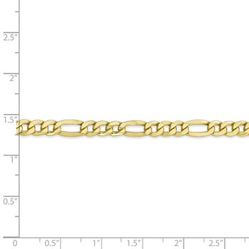 10k 5.35mm Semi-Solid Figaro Chain