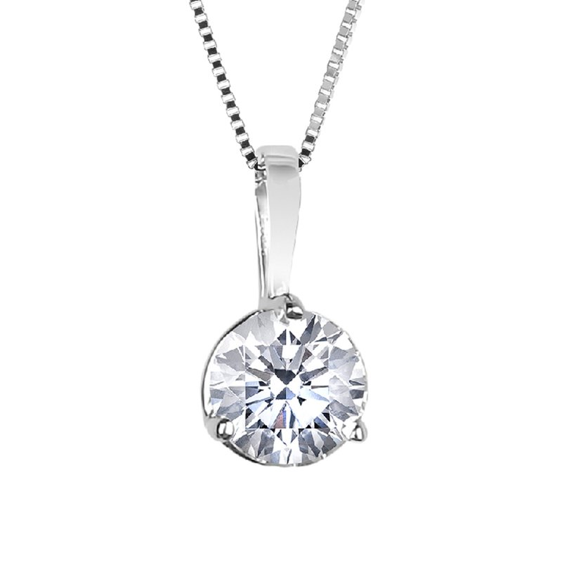 Three-Prong Diamond Pendant