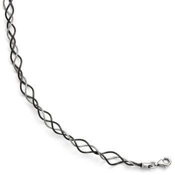 Leslie's SS and Ruthenium Plated Twisted w/ 1.5in ext. Bracelet