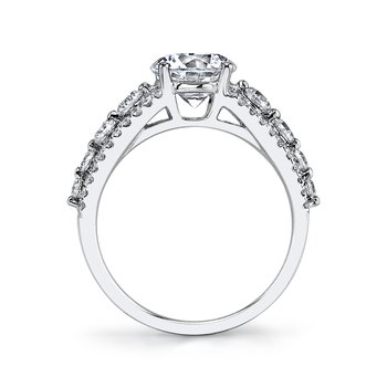 MARS 25526 Diamond Engagement Ring 0.71 Ctw.