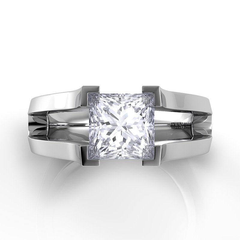Danhov Voltaggio Split Shank Princess-Cut Engagement Ring