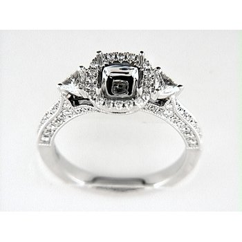 14K W RING 94RD 0.52CT 2TRI 0.21CT