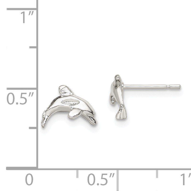 Quality Gold Sterling Silver Dolphin Mini Earrings