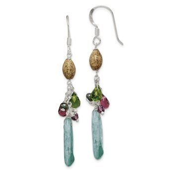 Sterling Silver Citrine/Amethyst/Peridot/Kyanite/Jasper Earrings