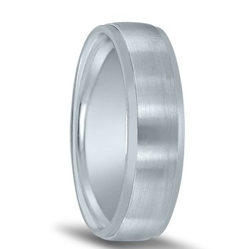Classic Wedding Band N08022 by Novell (with Bright Edges)