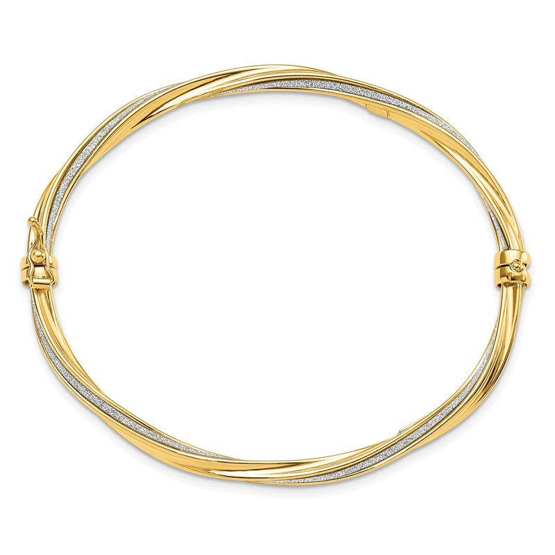Leslie's Italian Gold Leslie's 14K Glimmer Infused Bangle