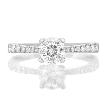 Four Prong Diamond Engagement Setting
