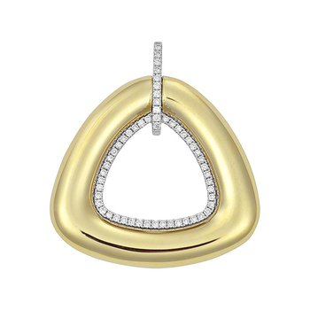 Diamond Fashion Pendant - FDP4801YW