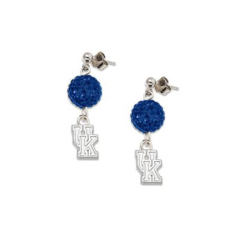 Sterling Silver University of Kentucky NCAA Earrings