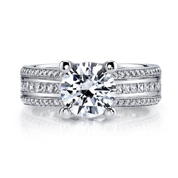 MARS R266 Engagement Ring  0.78 Ct Pr, 0.40 Ct Rd.