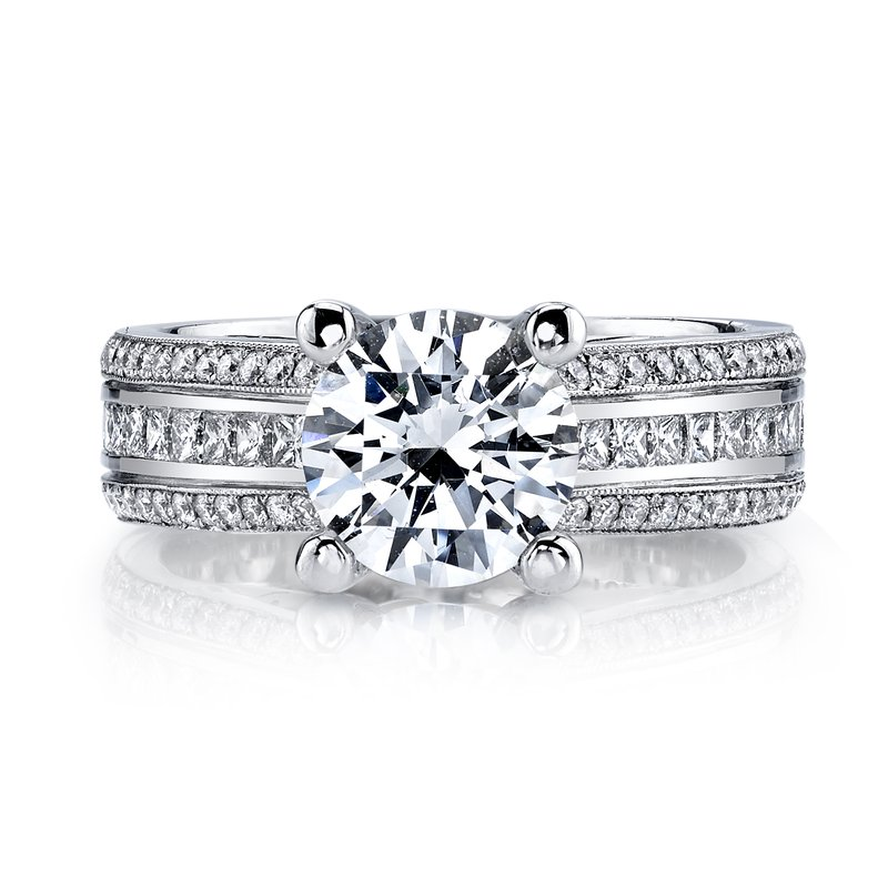 MARS Jewelry MARS R266 Engagement Ring  0.78 Ct Pr, 0.40 Ct Rd.