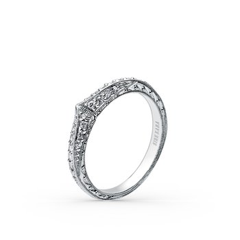 Geometric Diamond Wedding Band