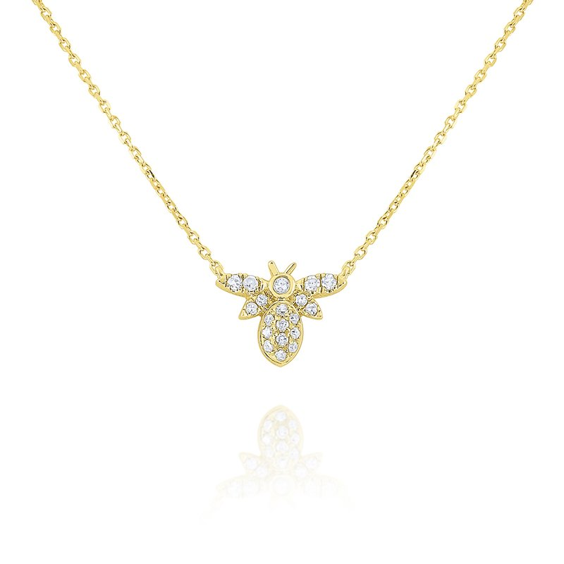 KC Designs 14k Gold and Diamodn Mini Bee Necklace