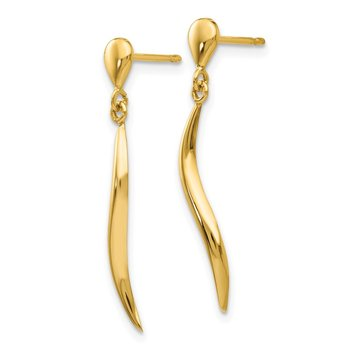 14k Polished Fancy Dangle Post Earrings