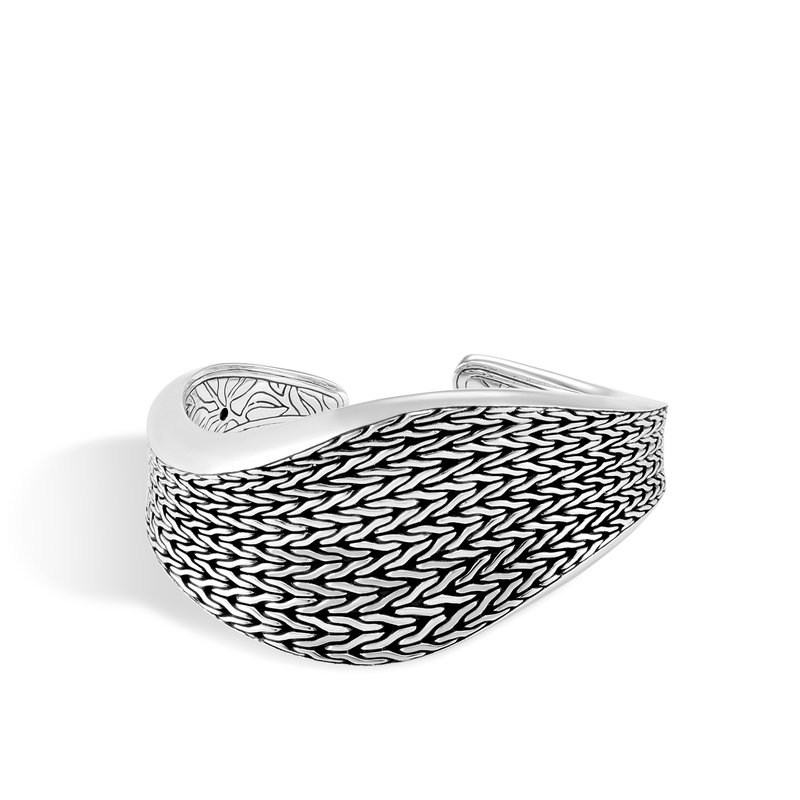 John Hardy Classic Chain Wave 39MM Kick Cuff in Silver