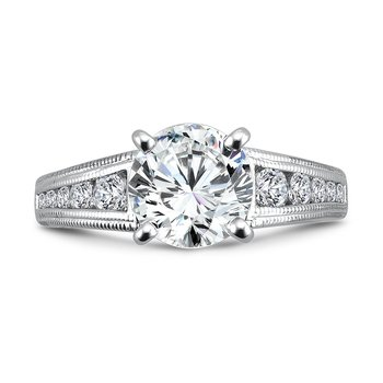 Grand Opulance Collection Diamond Engagement Ring With Side Stones in 14K White Gold with Platinum Head (2ct. tw.)