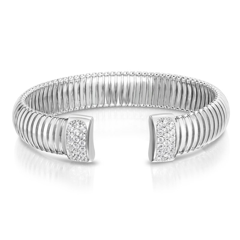 Royal Chain Silver Cavour White CZ Bangle