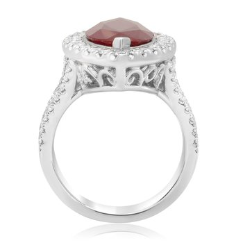 Marquise Cut Ruby & Diamond Ring