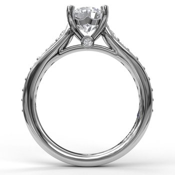 Classic Single Row Diamond Engagement Ring