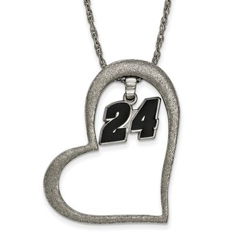Stainless Steel 24 Jeff Gordon NASCAR Pendant