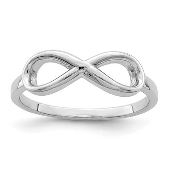 Sterling Silver Rhodium-plated Infinity Ring